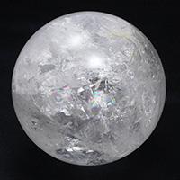 レインボー水晶丸玉AAA-098
