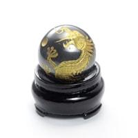 ヘマタイト龍彫り丸玉(台座付き)-006