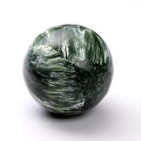 稀少!模様がしっかりとしたものだけを厳選!ロシア産セラフィナイト丸玉(ポーチ付き)-004