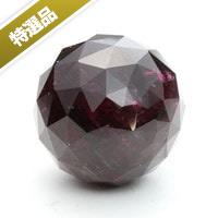 【特選品】ピンクトルマリン丸玉(ミラーカット)-002(UI-18)